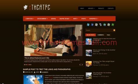 black themes wordpress free dark brown theater wordpress theme download