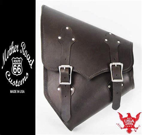 swing arm saddle bag 2000 2017 harley softail black leather saddle bag swing