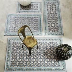 Vinyl Kitchen Floor Mats - moroccan tile mats rugs amp animal skins graham and green