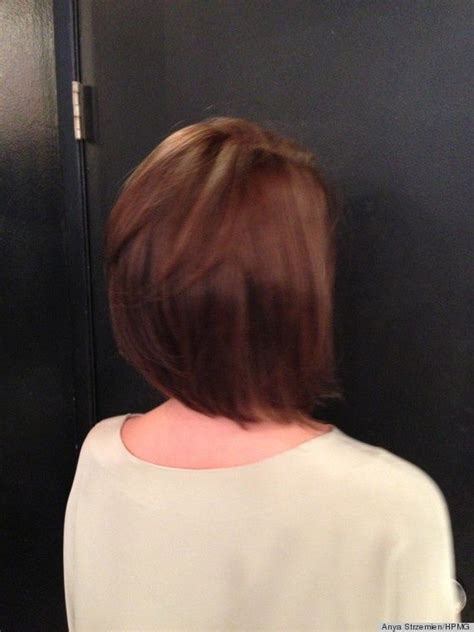 med length bob graduated layers medium bob haircut with layers back view hair