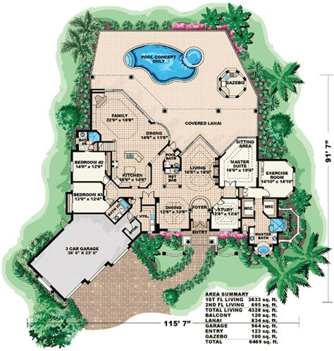 dream house plan pool included from coolhouseplans com dream home plans home design and style