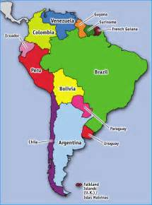 south america geography map for the of geography unit