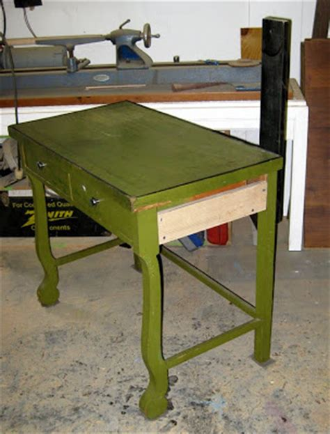 Green Desk L Antique by Abodewell Trash To Treasure Series Vintage Green Desk