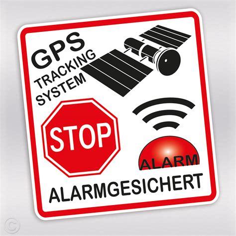 Fahrrad Aufkleber Selber Gestalten by Aufkleber Alarmanlage Mit Gps Tracking Und Stop Schild F 252 R