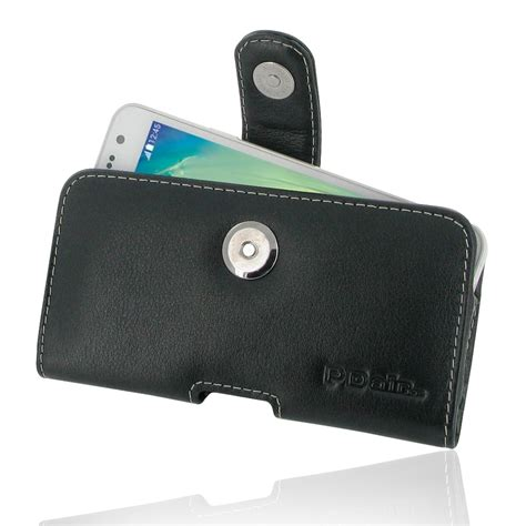 Leather Samsung Galaxy A3 samsung galaxy a3 leather holster with belt clip pdair pouch