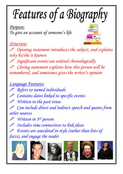 biography writing ks2 ppt features of a biography poster by moshing teaching