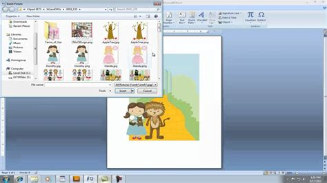 how to make a birthday card on microsoft word 2007 creating invitation using clipart in microsoft word