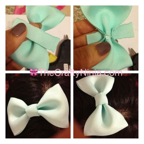 how to make a ribbon bow let s get crafty pinterest