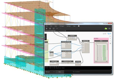 what are structural elements customizing the mechnism of dynamo to generate wind loads in revit bim and beam