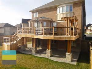 Chiminea On Deck 2 Level Cedar Deck With Wrought Iron Railings Pergola And