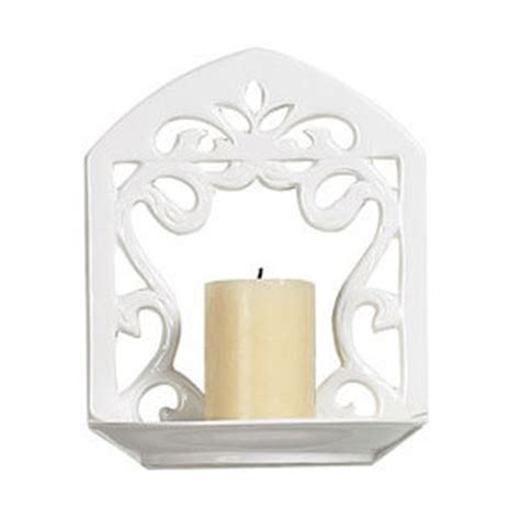 White Candle Sconces White Ceramic 7 Inch Wall Candle Sconce Sterling