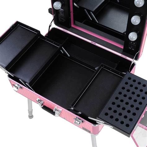 makeup train case with lights rolling studio makeup train case cosmetic w light leg