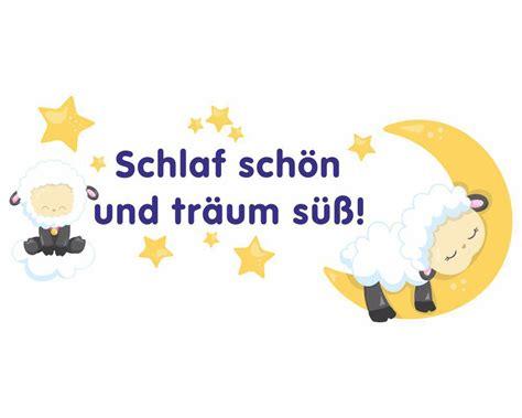 Schlaf Gut Bilder by Wandtattoo Kinderzimmer Schlaf Gut Und Tr 228 Um S 252 223 Schaf