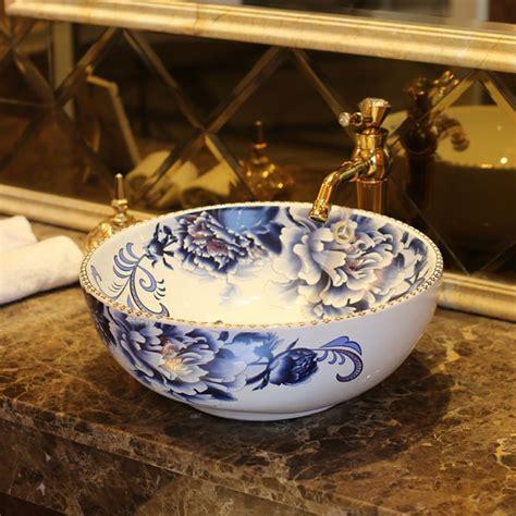 bathroom bowl basin europe vintage style ceramic art basin sinks counter top wash basin bathroom vessel