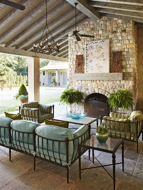 covered outdoor living spaces beautiful homes home and beautiful on pinterest