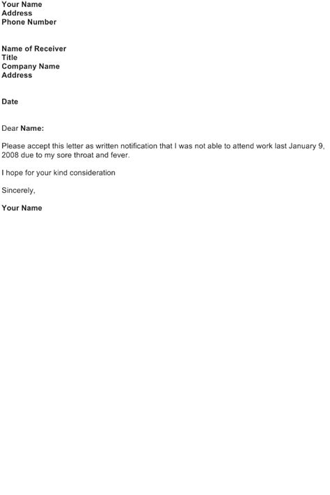 Excuse Letter With Certificate Excuse Letter Sle Free Business Letter Templates And Forms