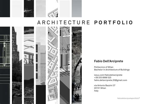 Architecture Portfolio By Fabio Dell Arciprete Issuu Architecture Portfolio Template