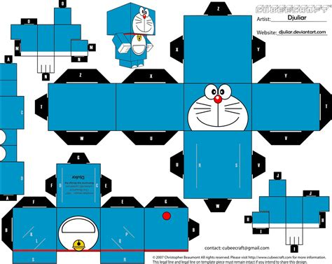 Cubeecraft Papercraft - cubeecraft doraemon by djuliar by djuliar on deviantart