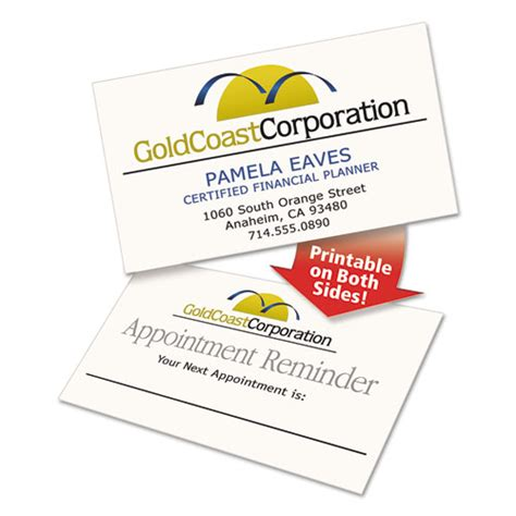 5882 lasaer clean edge business card template clean edge business cards laser 2 x 3 1 2 ivory 200