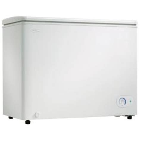 danby 8 1 cu ft manual defrost chest freezer in white