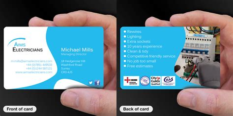 electrician business cards templates free business card designs electrician image collections card