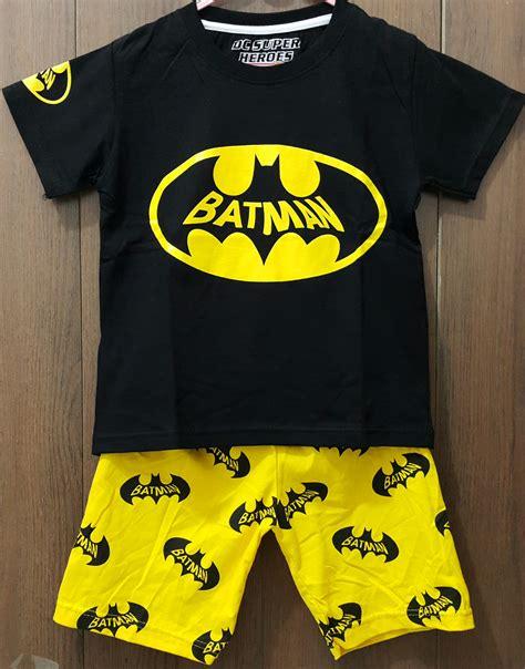 Baju Setelan Anak Berkualitas Setelan Anak Karakter baju anak setelan batman hitam 1 6 grosir eceran baju