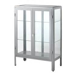 Ikea Retro Display Cabinet Fabrik 214 R Glass Door Cabinet Grey Ikea