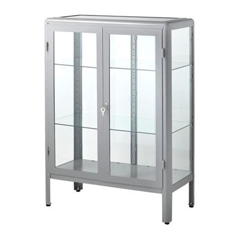 fabrikor ikea fabrik 214 r glass door cabinet gray ikea