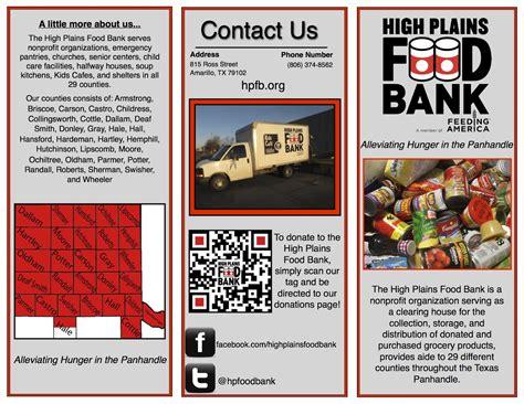 Food Pantry Brochure by High Plains Food Bank Brochure Is Printed