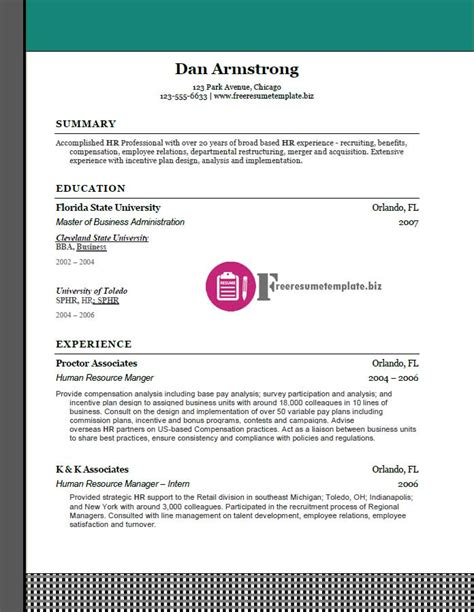 free resume templates pack 8 today