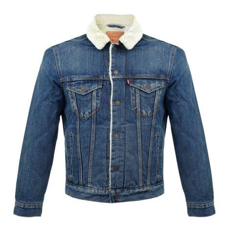 design jacket levis levi s uk store type 3 borg trucker denim jacket