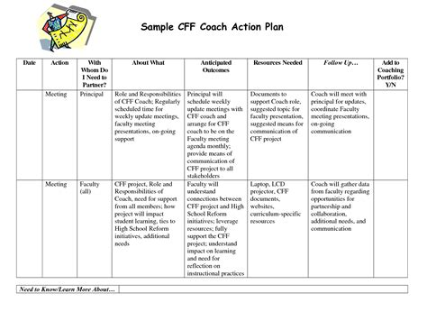 coach business plan template best photos of sle coaching development plan employee