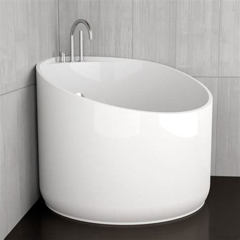 Vasca Da Bagno Mini Vasca Da Bagno Angolare Rotonda Mini White Glass Design
