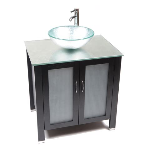 glass top vanities bathrooms shop bionic waterhouse 31 in x 22 in dark venge single