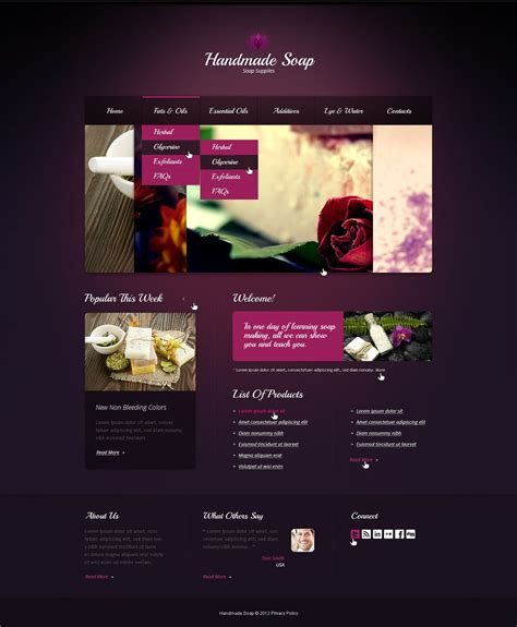 Handmade Crafts Websites - crafts website template 40102