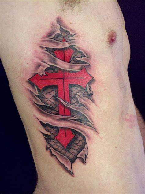 cross tattoos for men on ribs 35 amazing 3d designs collections