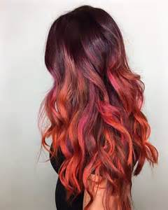colored ombre ombre cherry brown hairs