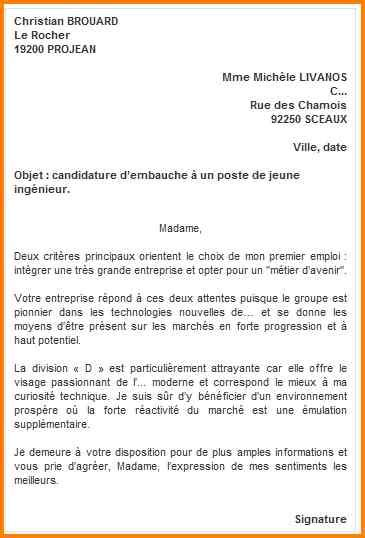 Exemple Lettre De Motivation Candidature Spontan E Hopital 7 Exemple Lettre Candidature Spontan 233 E Format Lettre