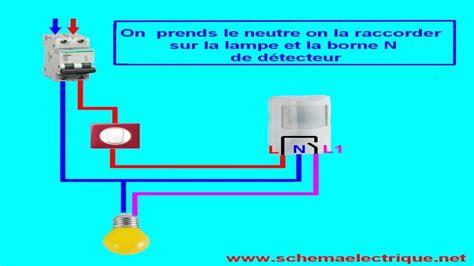 Installation Detecteur De Mouvement by Schema Branchement Cablage Detecteur De Mouvement Avec