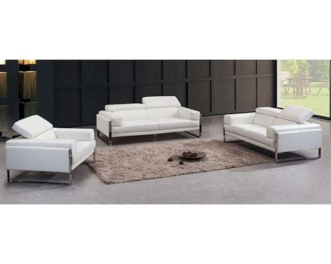 Contemporary White Leather Sofa Contemporary White Leather Sofa Set 44l5977