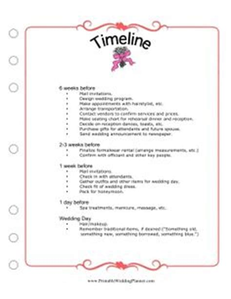 bridal shower itinerary template 1000 ideas about wedding timeline planner on