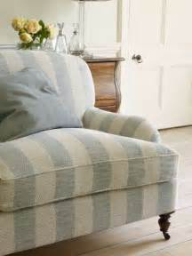 Sofa Chenille Fabric Striped Couch Blue Amp White Pinterest