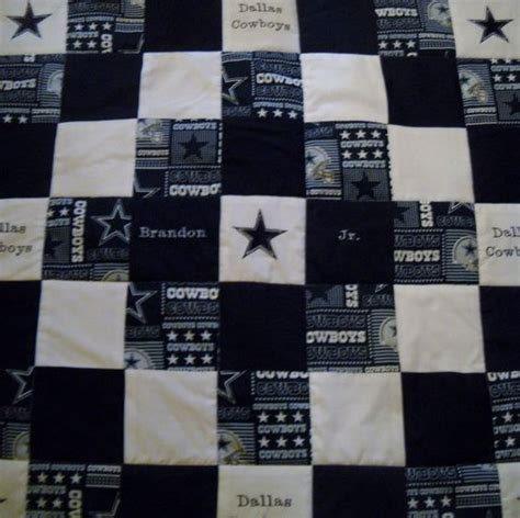 Quilt Stores Dallas by Handmade Blue Embroidered Dallas Cowboys Size Quilt