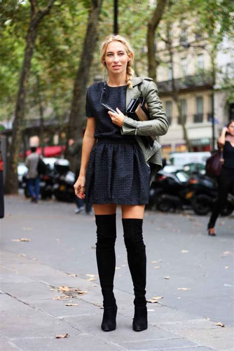 how to wear boots with how to wear thigh high boots wardrobelooks