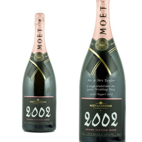 personalised moet chandon grand vintage rose magnum