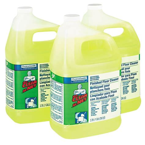 mr clean 1 gal lemon scent finished floor cleaner