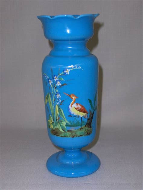 antique bristol glass vase from unexpectedjoy on ruby lane