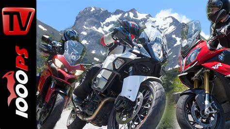 Bmw Motorrad Händler Mv by Video Reise Enduro Vergleich Alpen Bmw S 1000 Xr Ktm