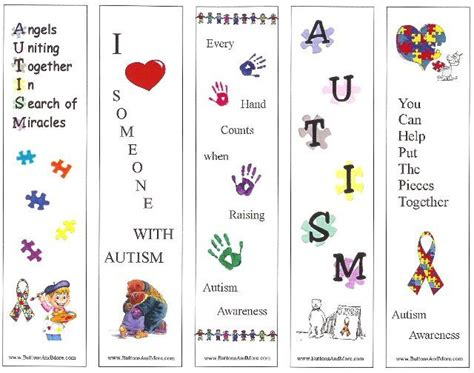 Printable Autism Awareness Bookmarks | autism awareness printable bookmarks autism pinterest