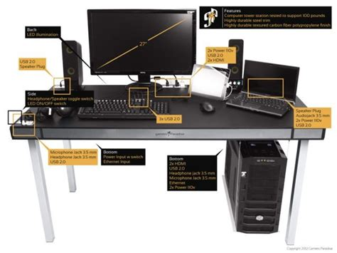 an awesome pc gaming workstation desk seeks kickstarter